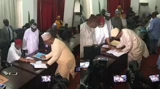 PDP national chairmanship aspirants sign peace accord