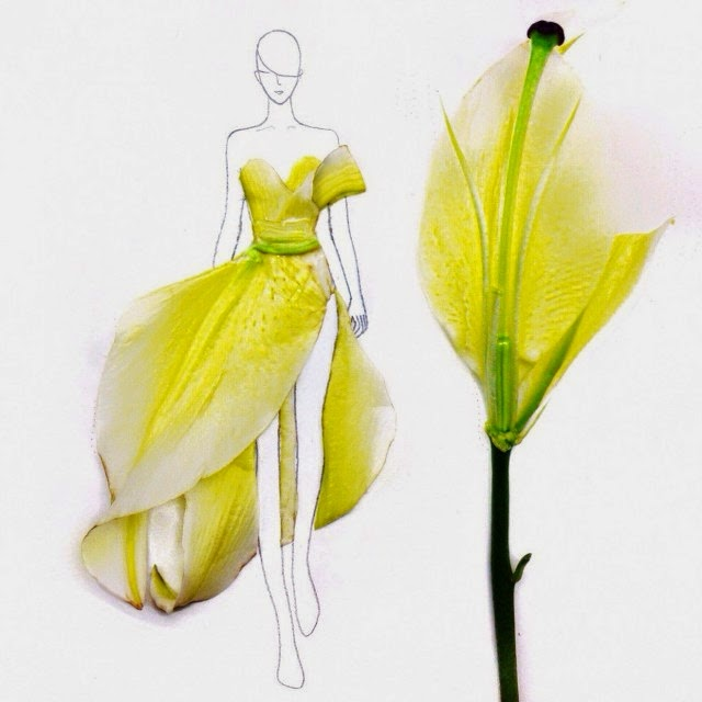 Grace Ciao – ilustradora de moda – pétalos de flores – diseños de moda – alta costura – pret a porter – imágenes de moda –decoración flores