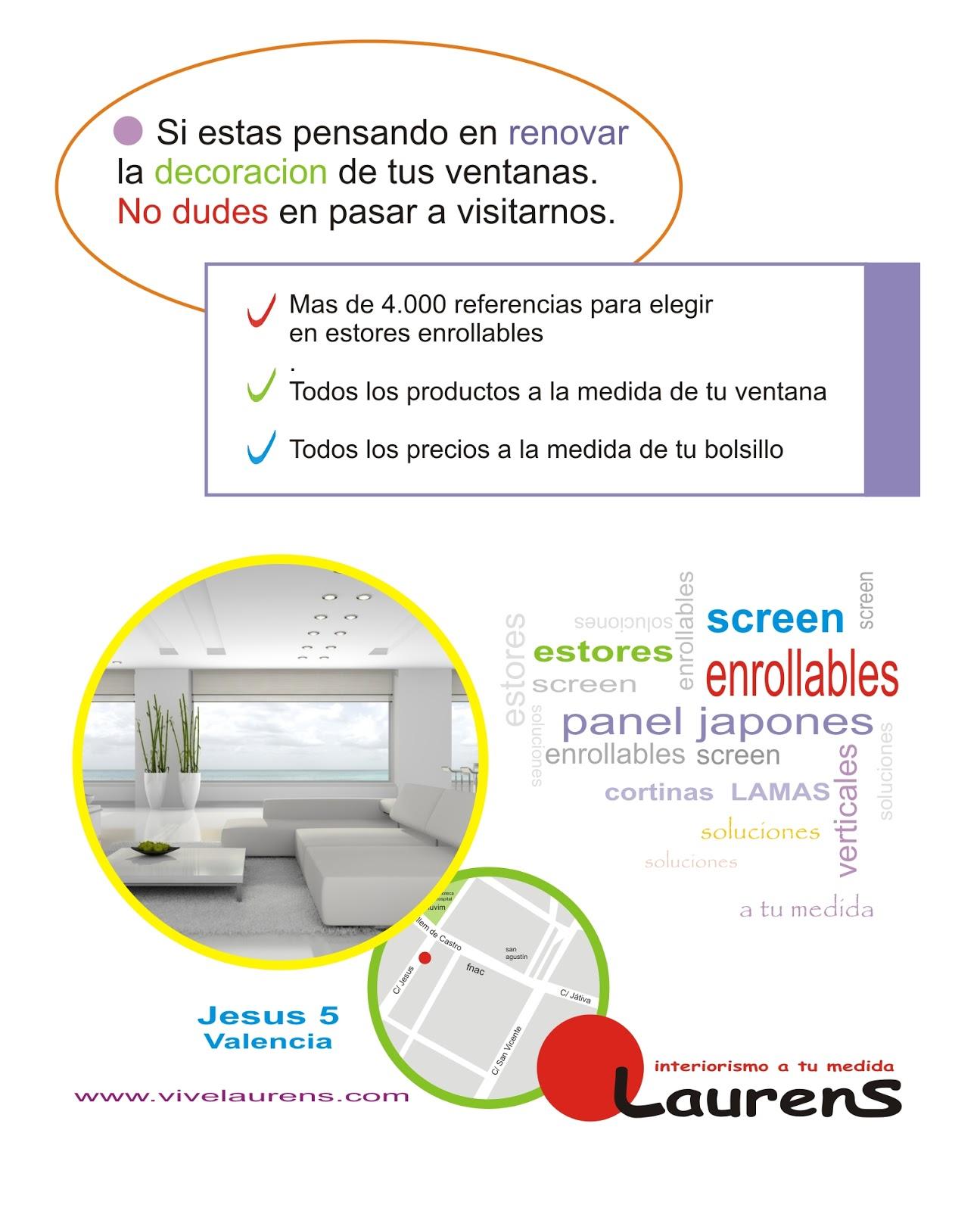 LAURENS - tus estores y cortinas en valencia: noviembre 2012