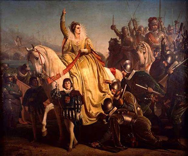 Historienmalerei  Historienmalerei: Eine Königin