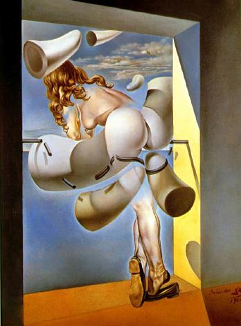 Joven virgen autosodomizada por los cuernos de su propia castidad (1954), obra de Salvador Dalí