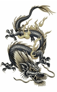 Japanese Dragon Flash Tattoo