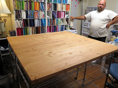 New tables and storage for the quilt studio