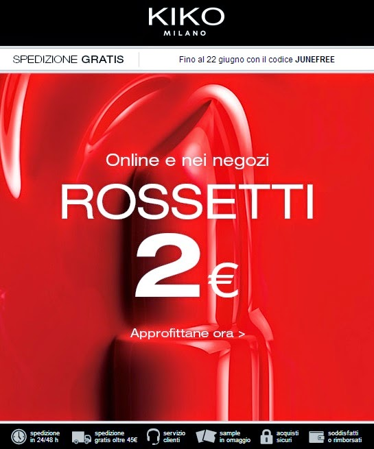 KIKO - Rossetti da 2€