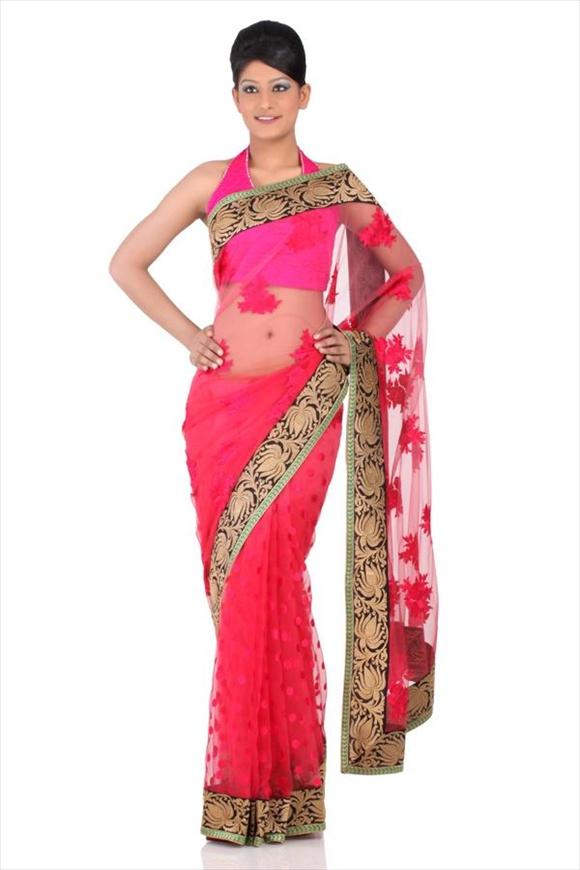 Sorbet Pink Net Saree