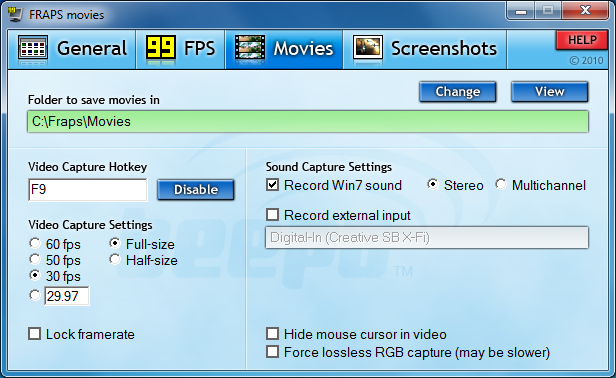 Download Free Software: Fraps 3.5.0 Latest Version Free