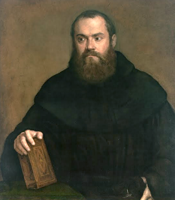 A monk with a book Titian