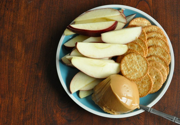 Peanut Butter Apple Snack Plate