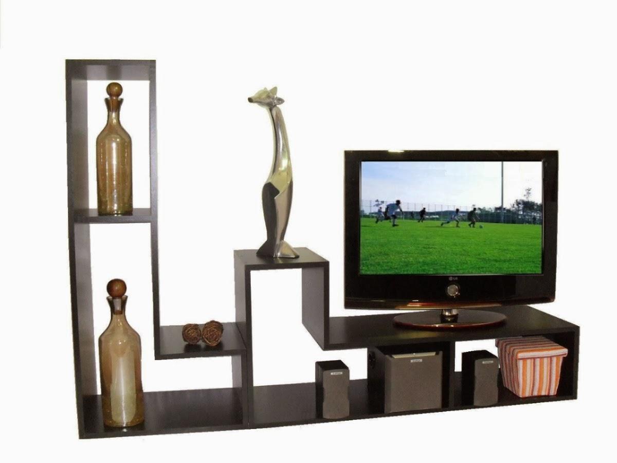 Repisas flotantes y cubos maderosos - Mesas de television de plasma ...