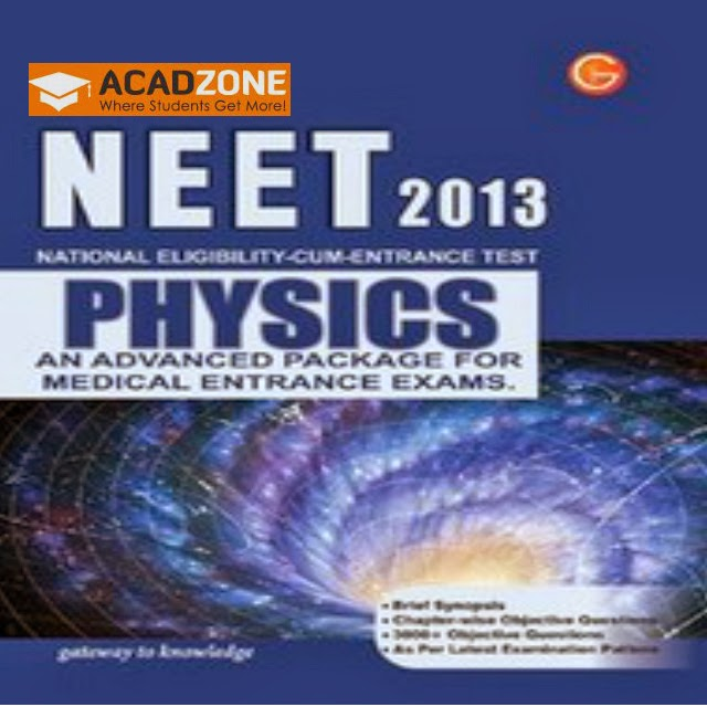 NEET-2013 Physics An Advanced Package For Medical Entrance Exams