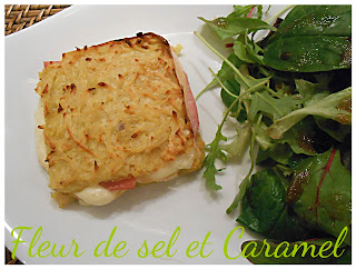 """Raclette revisitée en mode """"croque"""""""