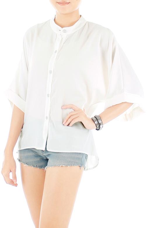 Sunday Kimono-inspired Blouse - White