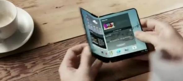 Smarphone Samsung yang dapat dilipat