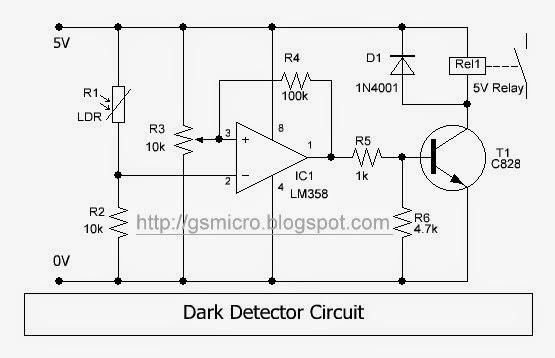 Dark Detector Circuit ~ GSmicro