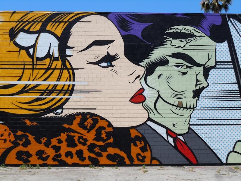 DFace zombie car mural Corey Helford Gallery
