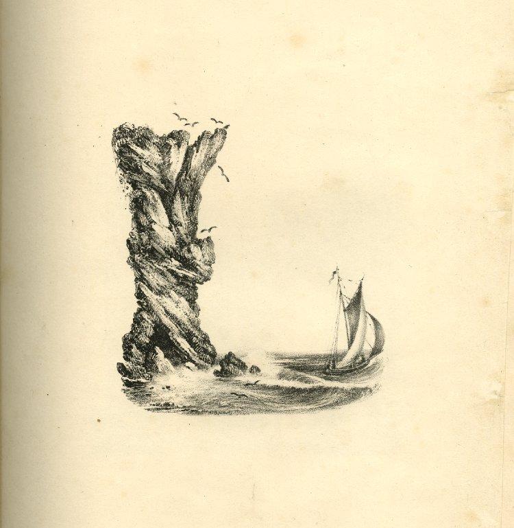 alfabeto Ingles litografia siglo 19 Charles Joseph Hullmandel