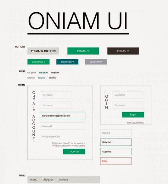 Freebie PSD: Oniam UI Kit
