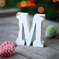 буквы деревянные 15 см