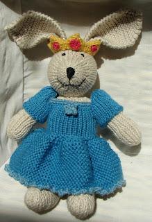 knit bunny princess crown dress