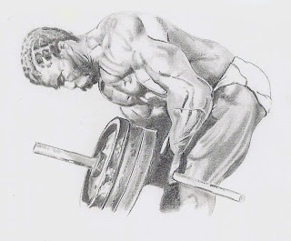 ROBBY ROBINSON - T-BAR ROWS - ILLUSTRATION BY IAN DUCKETT ▶ www.robbyrobinson.net/motivation.php