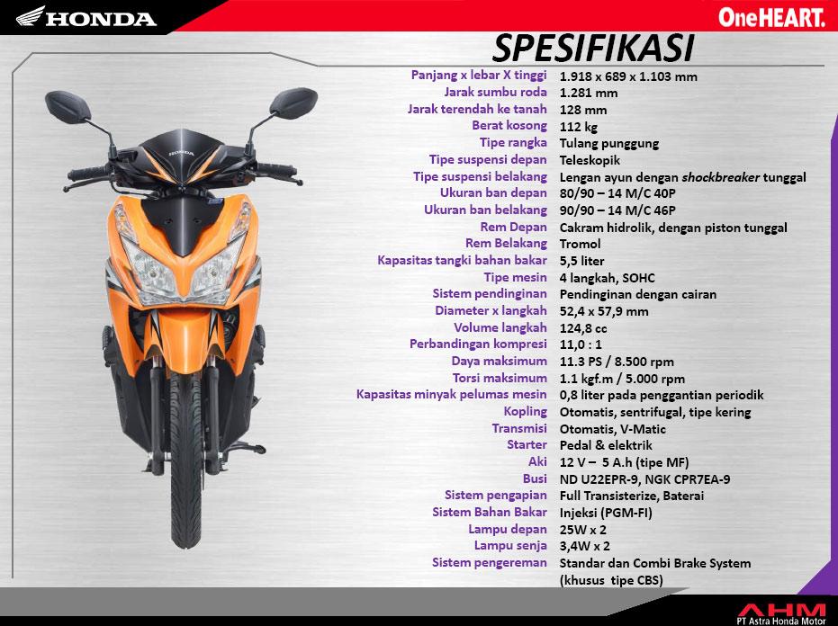 Honda Vario 125 | Honda Vario PGM-F1 125 Harga Dan Spesifikasi