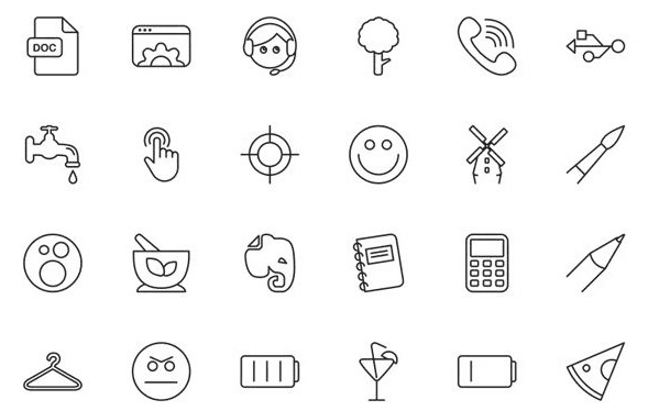 Free Vector Line Icons