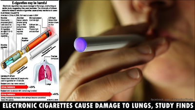 Electronic Cigarettes Cause Damage to Lungs, Study Finds