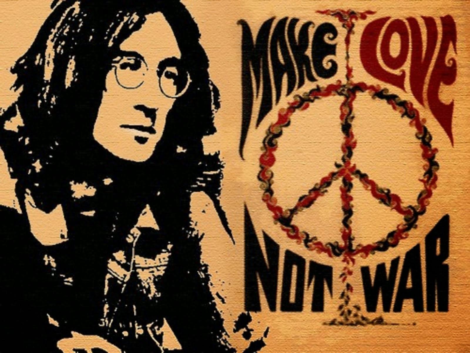 "JOHN LENNON - ""MAKE LOVE NOT WAR"""