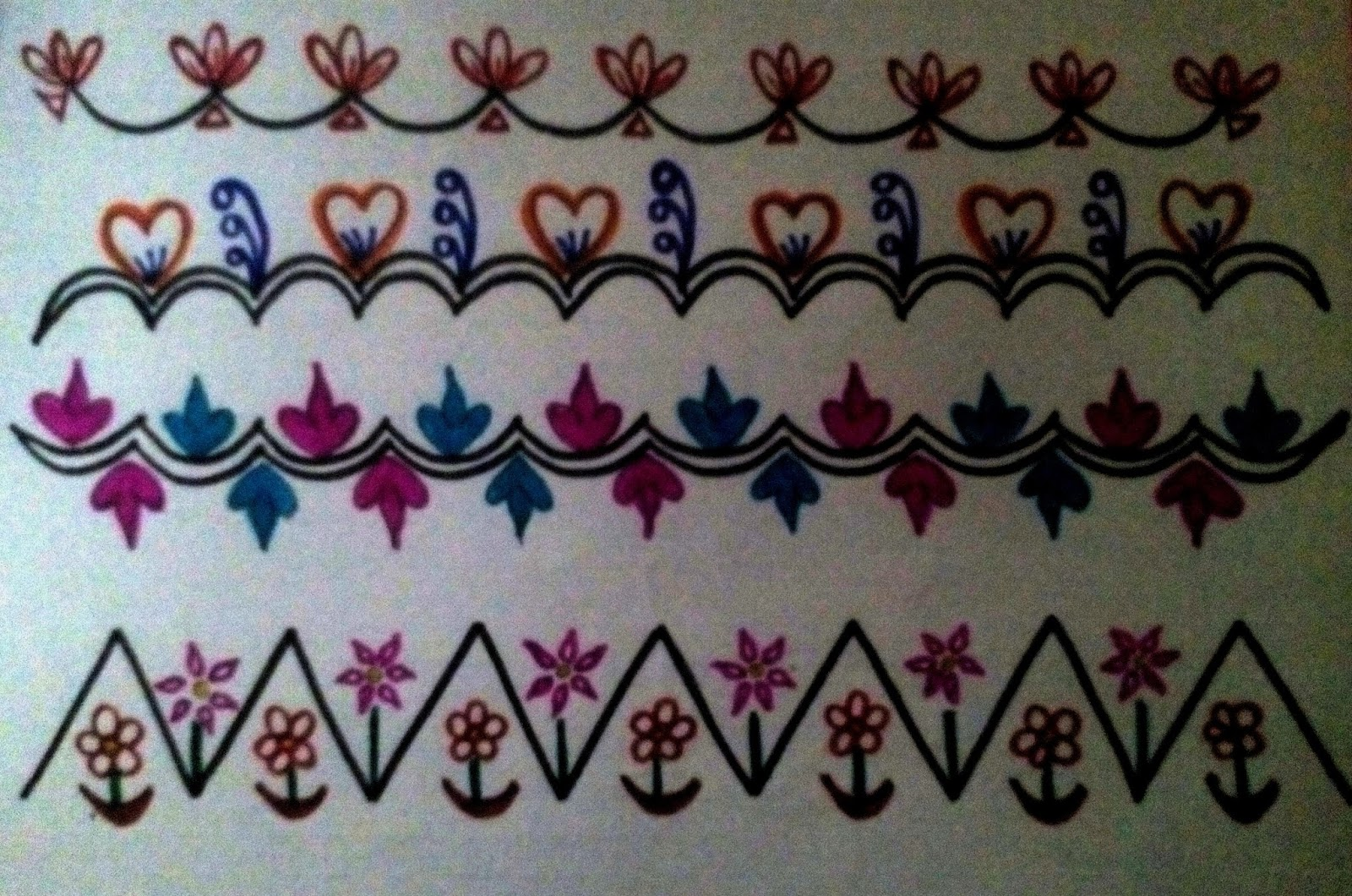 Vanathi S Rangoli Art Crafts Rangoli Border Designs