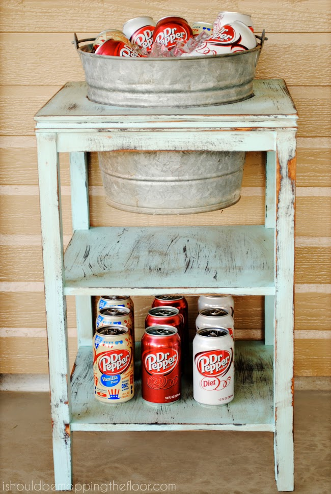 This Beverage Station is perfect! It has tons of storage for all your drink needs and can be used for so many different things (crafts outside, reading time, snacks, parties, smores, etc.). My .