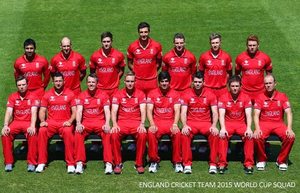 England Team Squad for ICC Cricket World Cup 2015