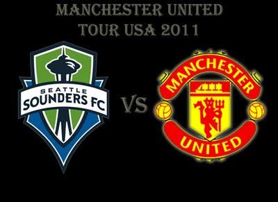 Seattle Sounders vs Manchester United Man Utd Tour 2011