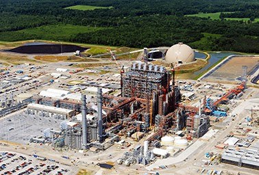 Kemper plant - Future of the coal industry? The ambitious and expensive carbon capture and sequestration power plant in Kemper County, Miss. (Credit: Mississippi Power) Click to enlarge.