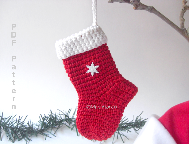 Free Crochet Pattern Xmas Stocking Dancox For