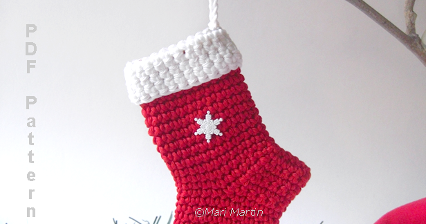 Crochet Colorful Crochet Christmas Stocking Ornament Pattern