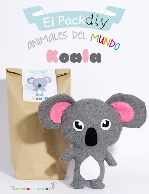 kit DIY koala pack tela handmade manualidades