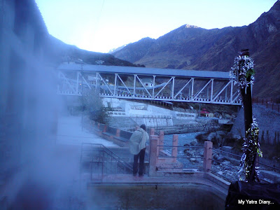 Misty Fumes emanating from the Tapt Kund and Narad Kund in Badrinath