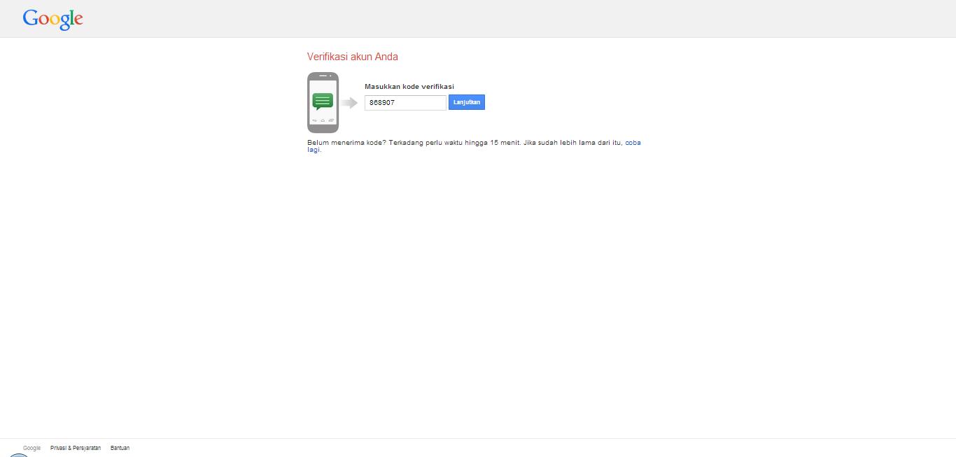 Verifasi dari Gmail