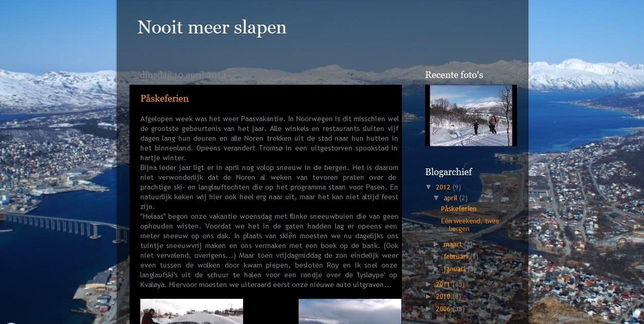 Citaten Uit Nooit Meer Slapen : Nederlanders in noorwegen nooit meer slapen