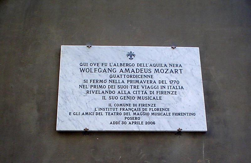 Curiosità di Firenze: Il soggiorno di Mozart a Firenze