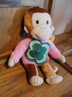Pink Calico: Curious George Sweater