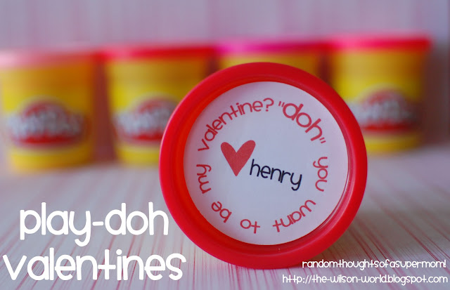 Play-Doh Valentines (with Free Printable) by Random Thoughts of a Super Mom