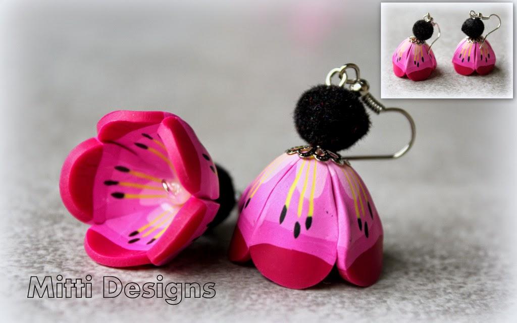 polymer clay, flower, petal, cane sakura fower, spring, pink, cane