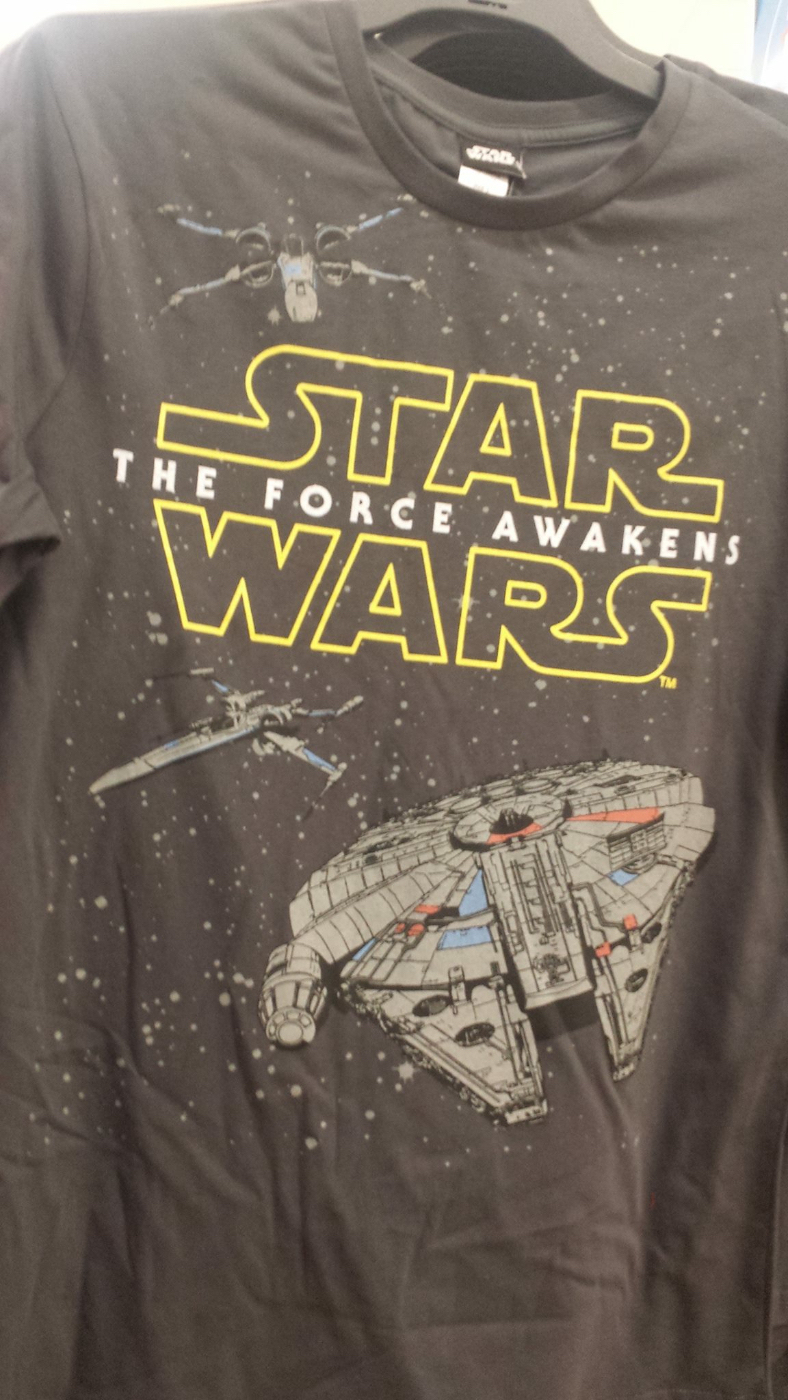 Black t shirt at walmart - Report New The Force Awakens Apparel Spotted Updated