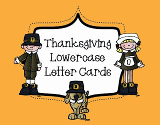 http://www.teacherspayteachers.com/Product/Lowercase-Letter-Cards-Thanksgiving-Theme-947539