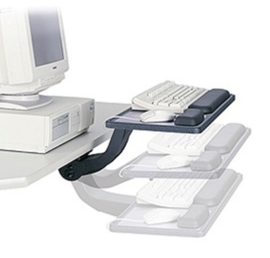 Safco Ergo Comfort Sit Stand Keyboard Tray