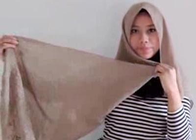 Creation hijab urban chic hanya 3 menit part 1