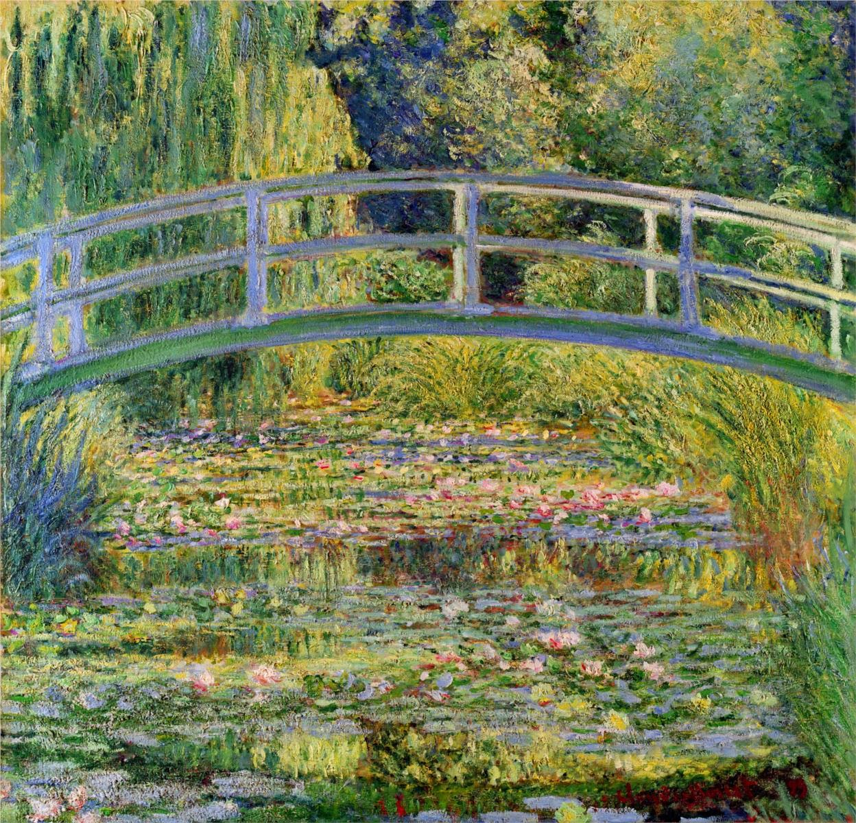 Claude Monet 1899 The Water Lily Pond Oil On Canvas 883 X 931 Cm National Gallery London
