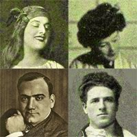 Geraldine Farrar, Louise Homer, Giovanni Martinelli and Enrico Caruso