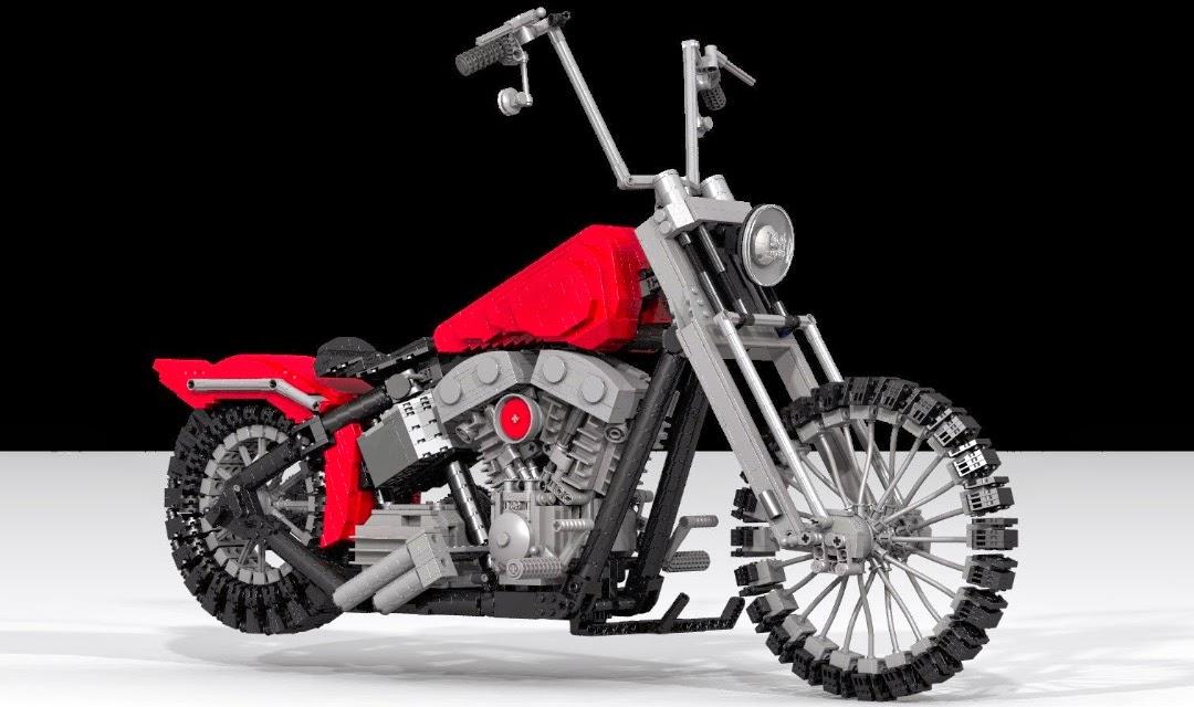 lego technic motorcycles giant lego harley davidson. Black Bedroom Furniture Sets. Home Design Ideas